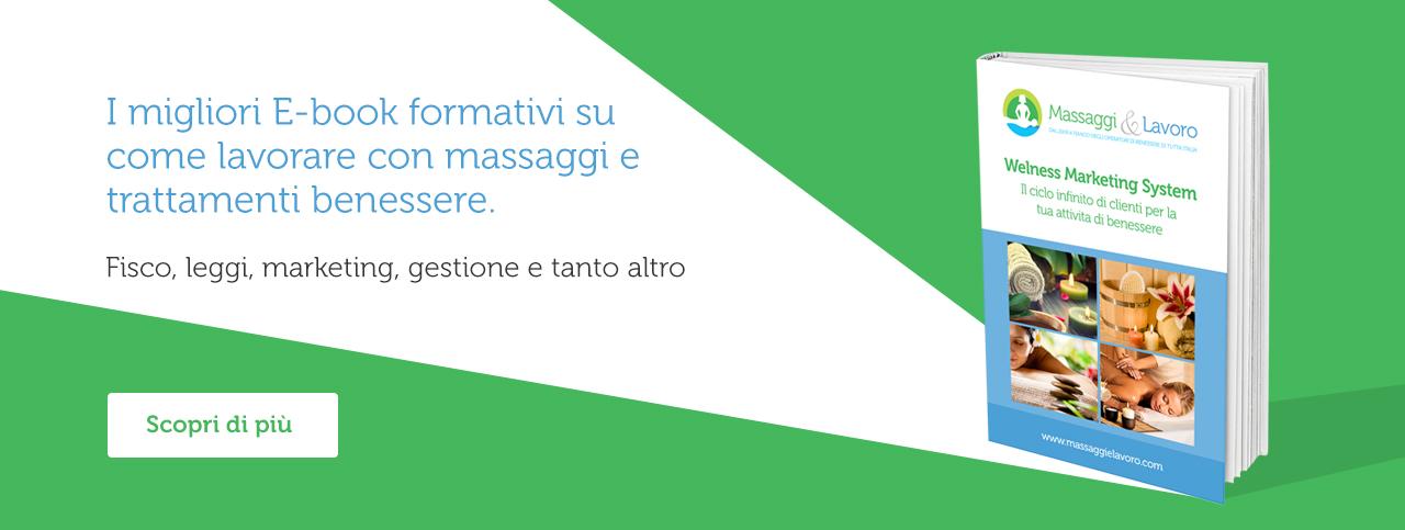 Ebook su come lavorare con i massaggi e trattamenti di benessere